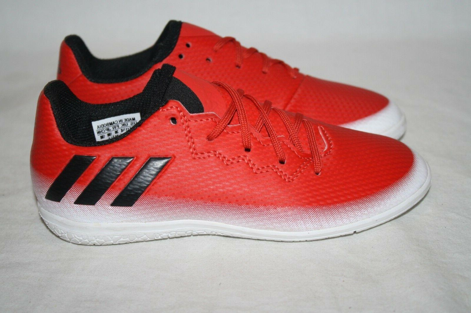 BOYS ADIDAS 16.3 RED/BLACK/WHITE SHOES - SEE LISTING FOR SIZ