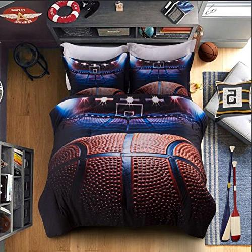 boys comforter set basketball 3d