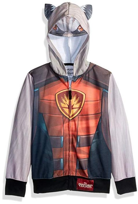 Boys Guardians of the Galaxy Rocket Sublimated Zip Hoodie Ja