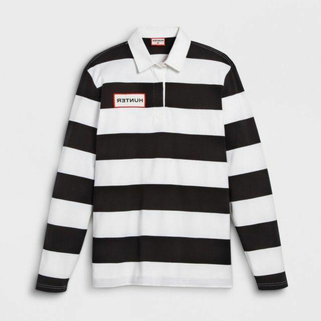 boys striped polo rugby long sleeve shirt