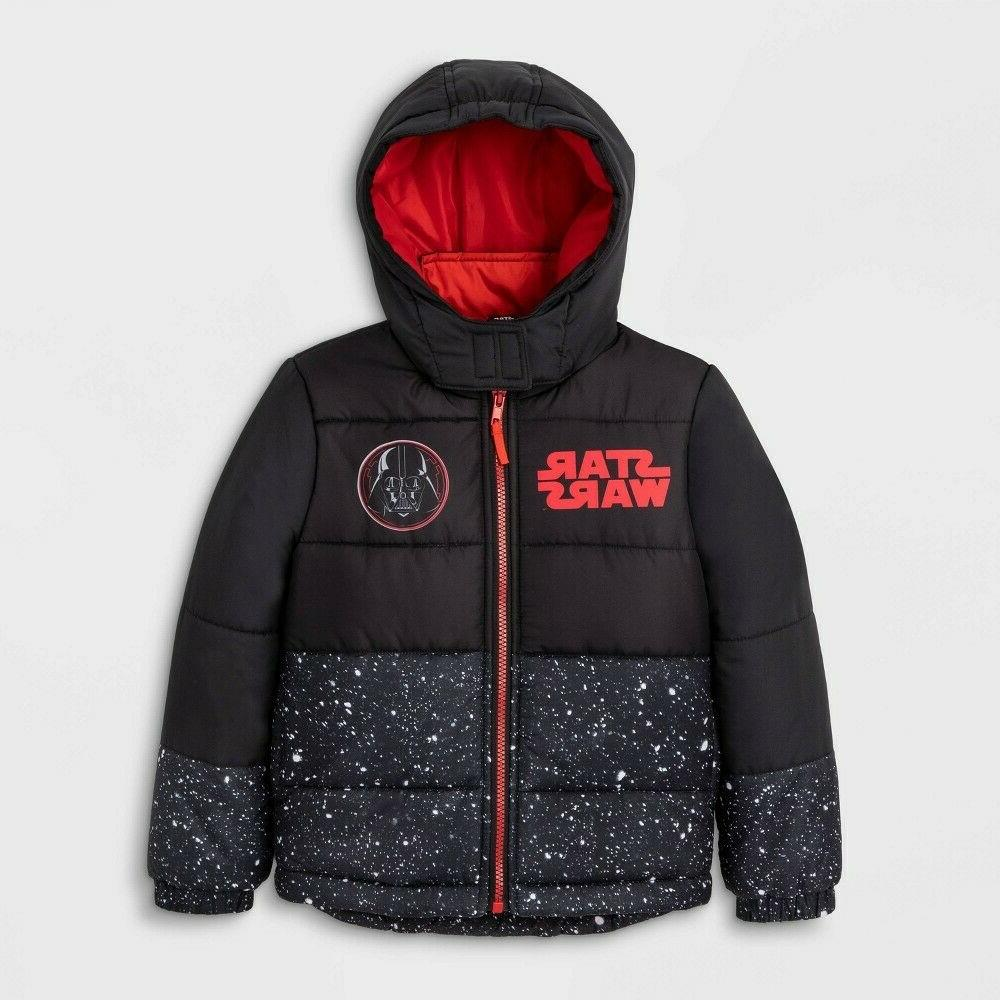 boys winter coat vader puffer jacket black