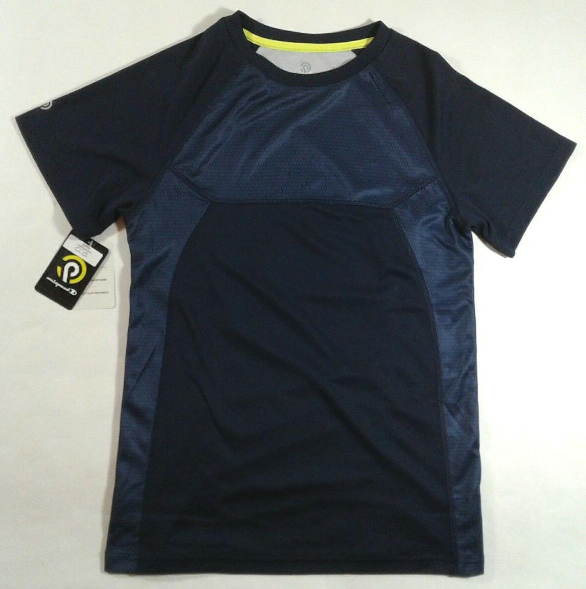 BOYS YOUTH C9 BY CHAMPION DUO DRY SHORT SLEEVE SHIRT SIZE LA