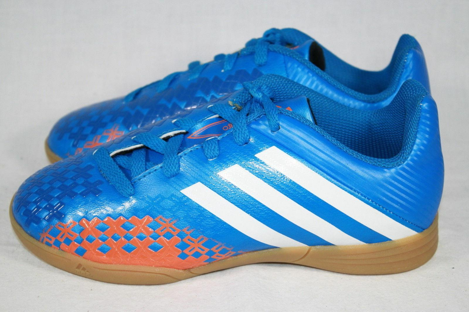 BOYS YOUTH ADIDAS PREDITO BLUE/ORANGE SHOES - SEE LISTING FO