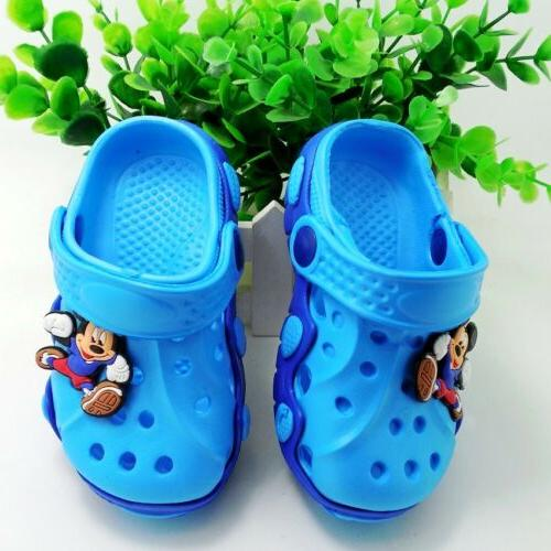 children garden shoes boys girls cartoon summer