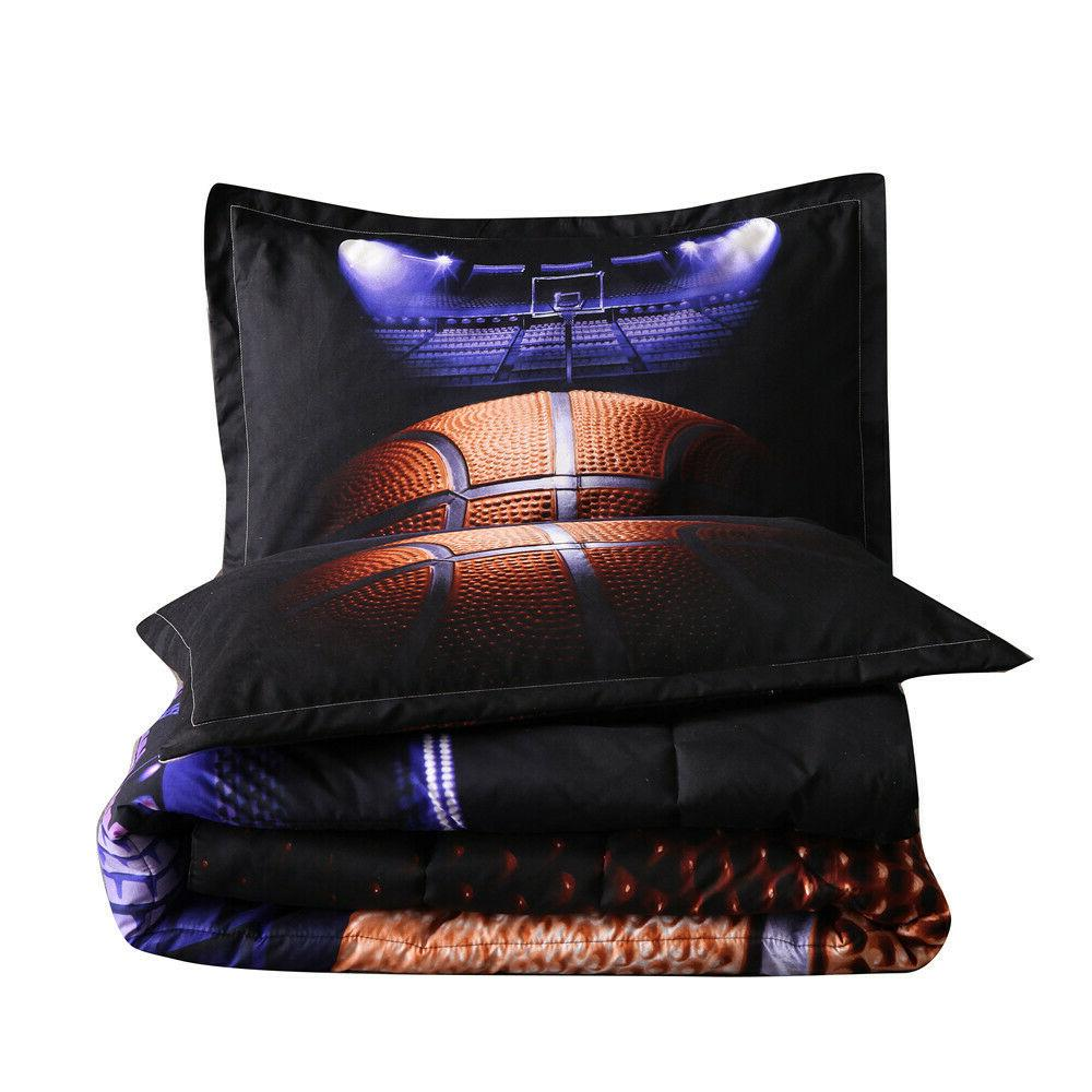 Basketball Court for Boys Men Sports Bedding