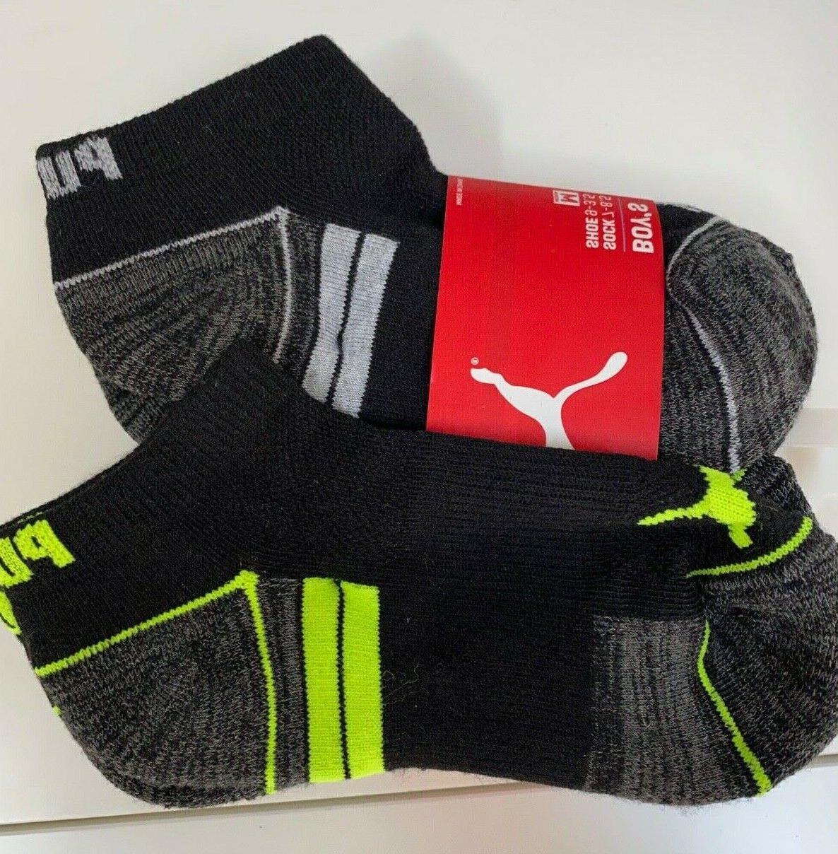 Puma Coolcell Low Cut Ankle Socks M 7-8.5 Boys Shoes 9-3.5