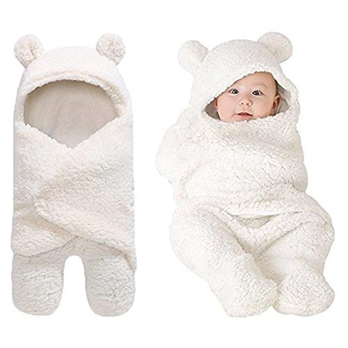 cute cotton plush receiving blanket