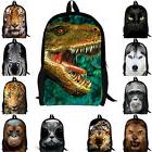 Dinosaur Cat School Bag Backpack Mid School Boys Girls Satch