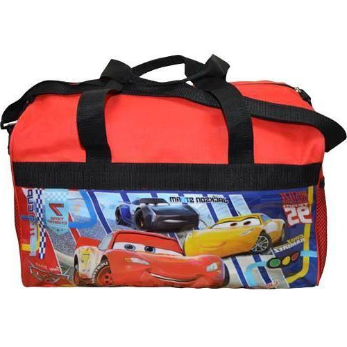 Disney Cars 3 600D Polyester Duffle Bag with printed PVC Sid