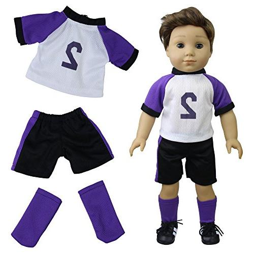 ZITA ELEMENT 6 Sets American Clothes | Logan Outfits 18 Inch Doll,