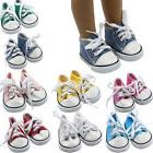 Doll Accessory Cloth Canvas Sneakers Shoes For 18 inch Ameri