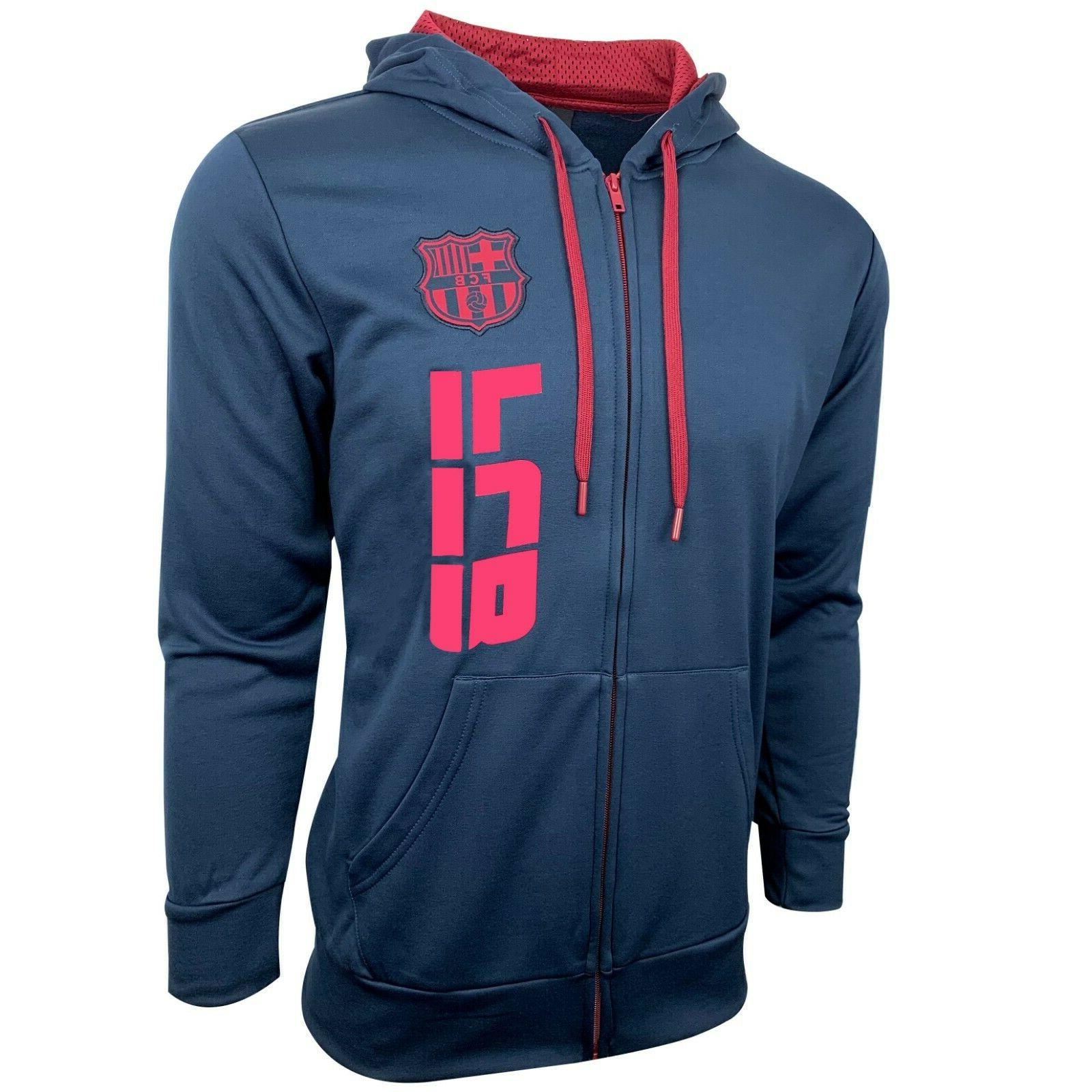fc barcelona hoodie for adults and boys