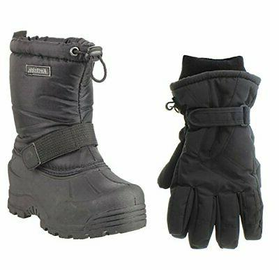 frosty snow boot black 7 m us