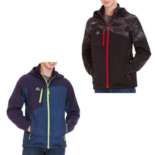 hooded softshell jacket for boys