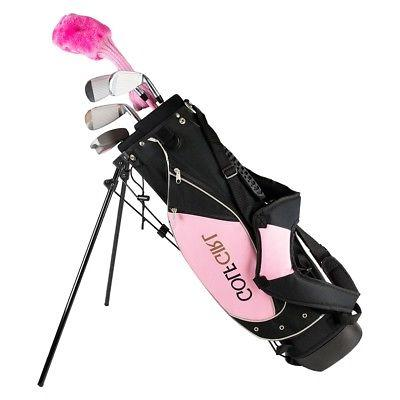 Golf Girl Junior Club Youth Right Hand Set for Kids w/Pink S