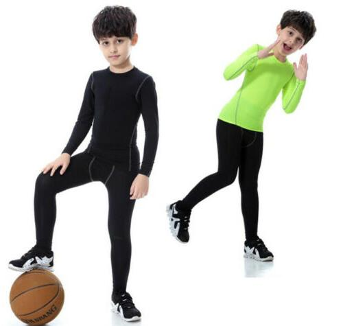 Kids Sports running suit Gym Fitness Tight clothes