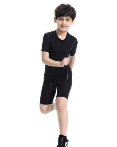 Kids running Gym Tight workout clothes