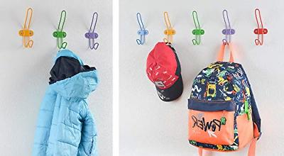 Tibres Coat Hooks for and Boys for Clothes Backpacks