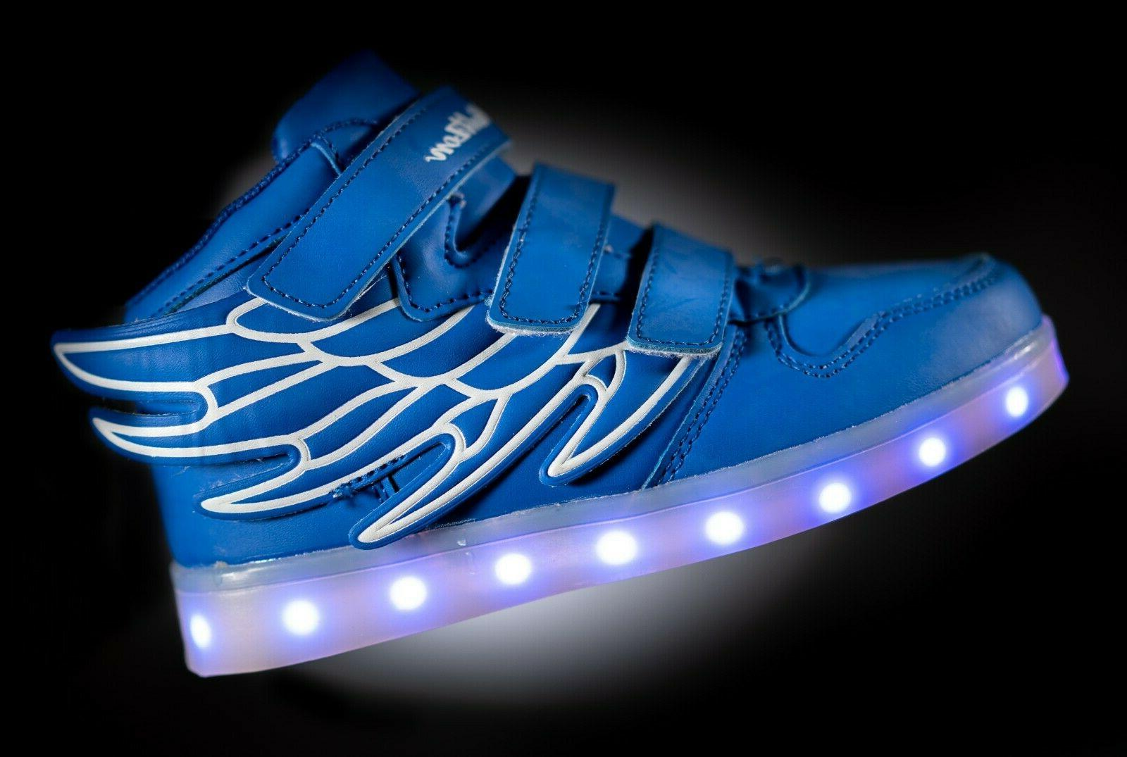LED Shoes Sneaker Boys Kids Remote NIB