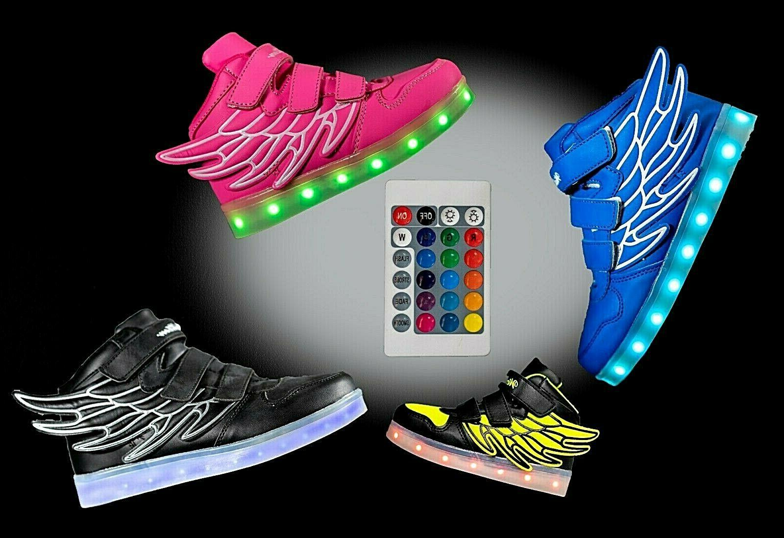 LED Light Up Sneaker Flashing Boys Kids and Remote Z9
