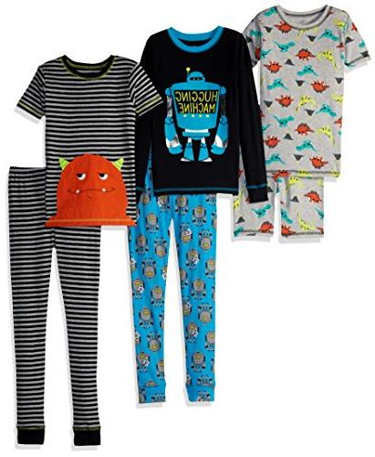 Simple Joys Boys' Little Snug Set, Monster/Dino,