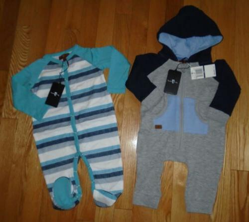 lot 2 baby boys romper coverall hoodie