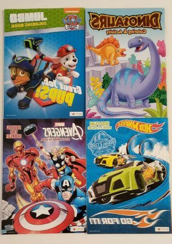 marvel hotwheels coloring and activity books lot