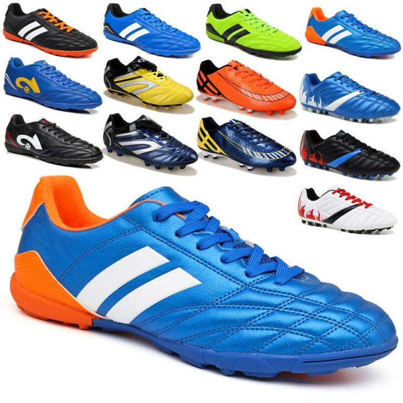 Men Boys Soccer Cleats Shoes Football Indoor TF Sports Train