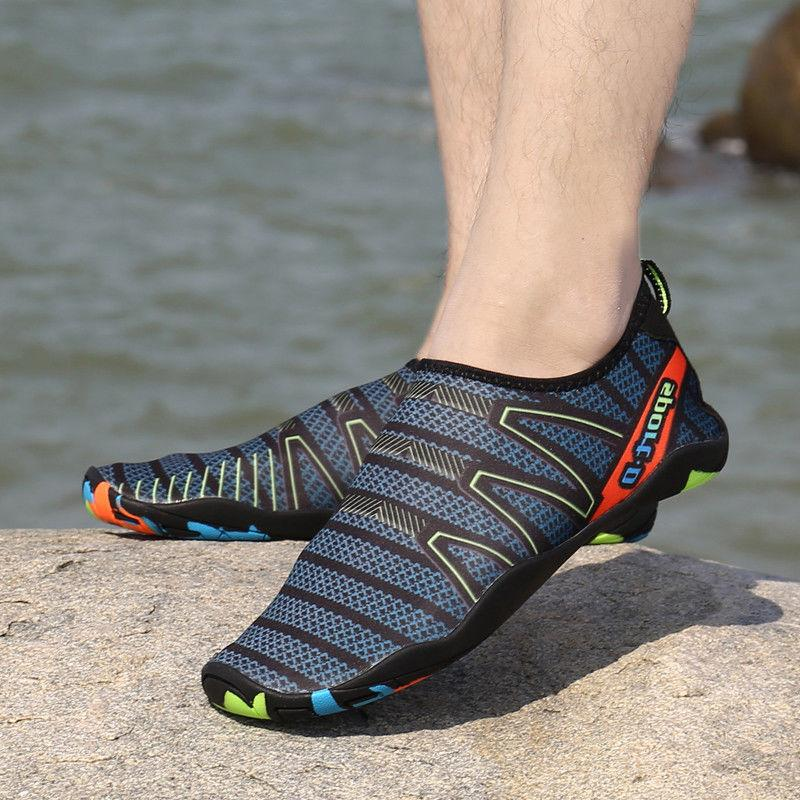 Men Quick-Dry Water Shoes Barefoot Aqua Socks Yoga Beach Swi