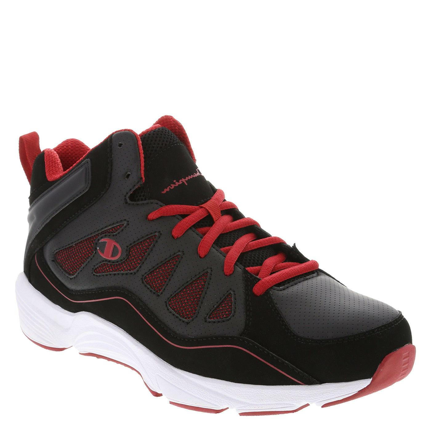 mens boys playmaker basketball black red shoes