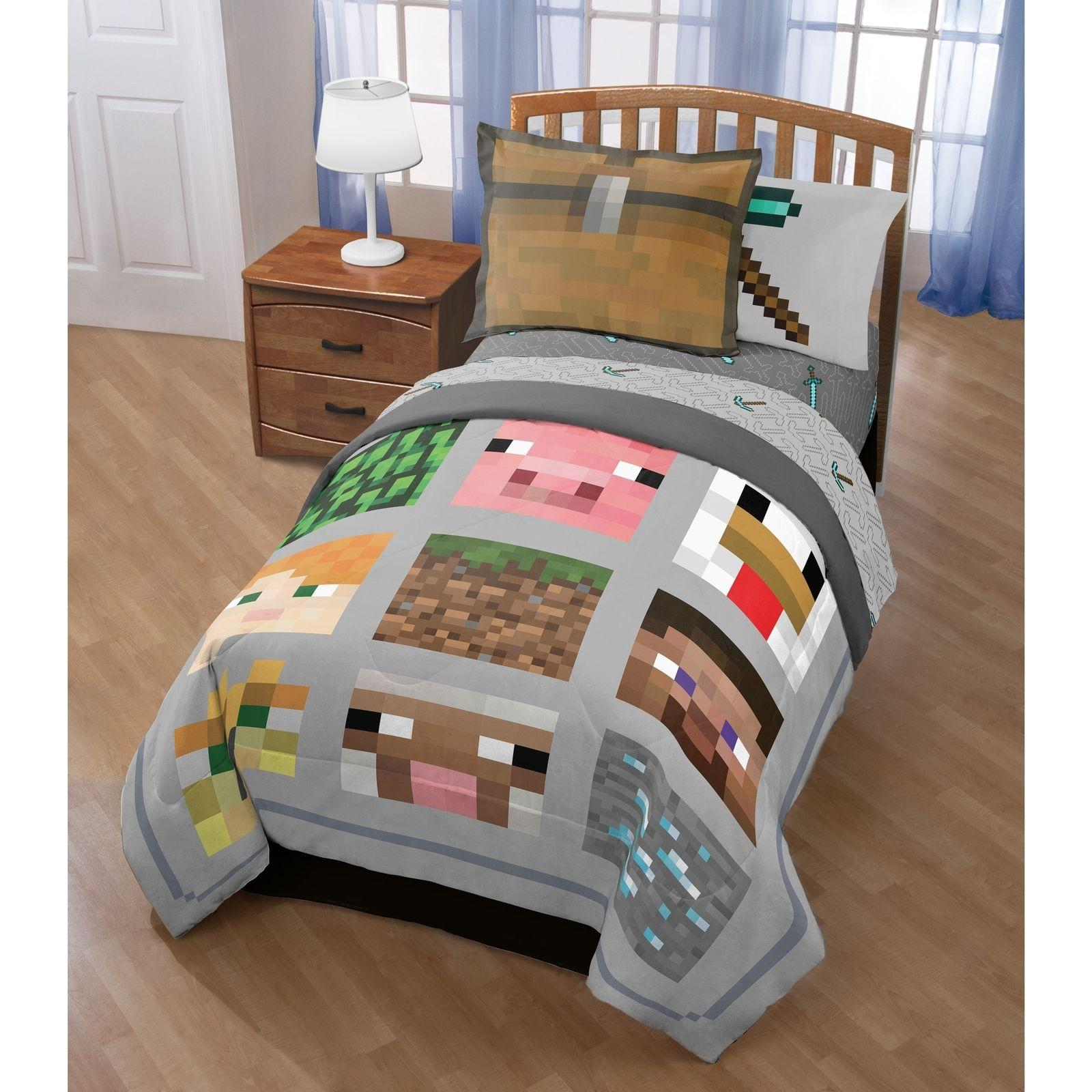 minecraft bedding set for boys video game