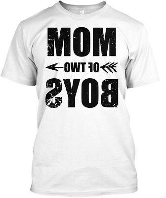 Mom Of Two Boys . For Mother - Hanes Tagless Tee T-Shirt
