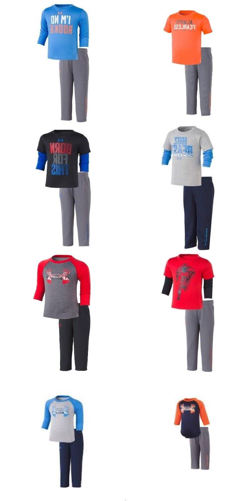 new baby boys tee and pants set
