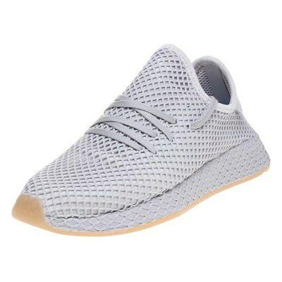 New BOYS ADIDAS GRAY DEERUPT RUNNER NYLON Sneakers Running S