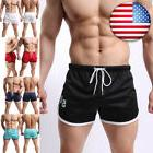 NEW Pants For Men Boys Shorts Sports Running Mesh Slim Doubl