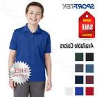 NEW Sport-Tek Boy's Cool Dri-Fit Wicking Performance Polo Sh