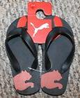 New! Youth Boys Puma Flip Flops/Sandals/Shoes  - Sizes 11, 1