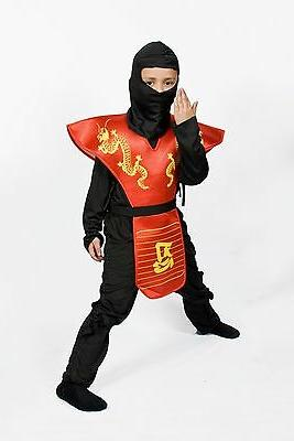 Ninja costume for boys red Size Small  Medium Large Lowest p