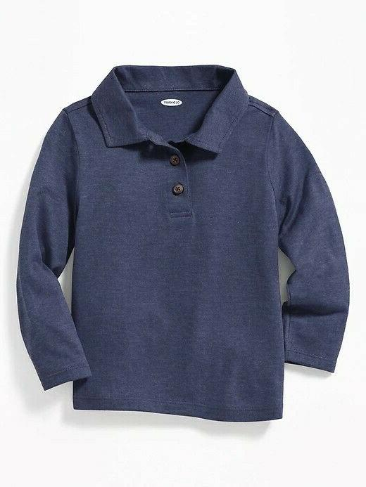 nwt long sleeve jersey polo for toddler