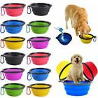 Pet Dog Portable Silicone Collapsible Travel Feeding Bowl Fo