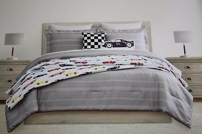 BOY RACING TWIN COMFORTER PILLOWS COVERLET