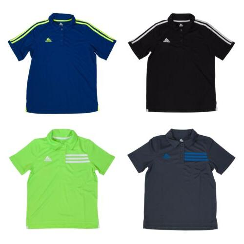 short sleeve athletic polo shirt for boys