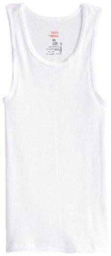 Hanes Big Boys' Tank 5-Pack, White, Medium