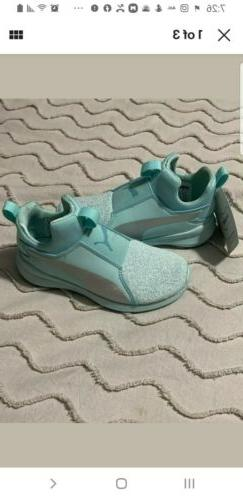 TODDLER GIRL/BOY PUMA SNEAKERS LIGHT BLUE OR TEAL NEW SIZE 1