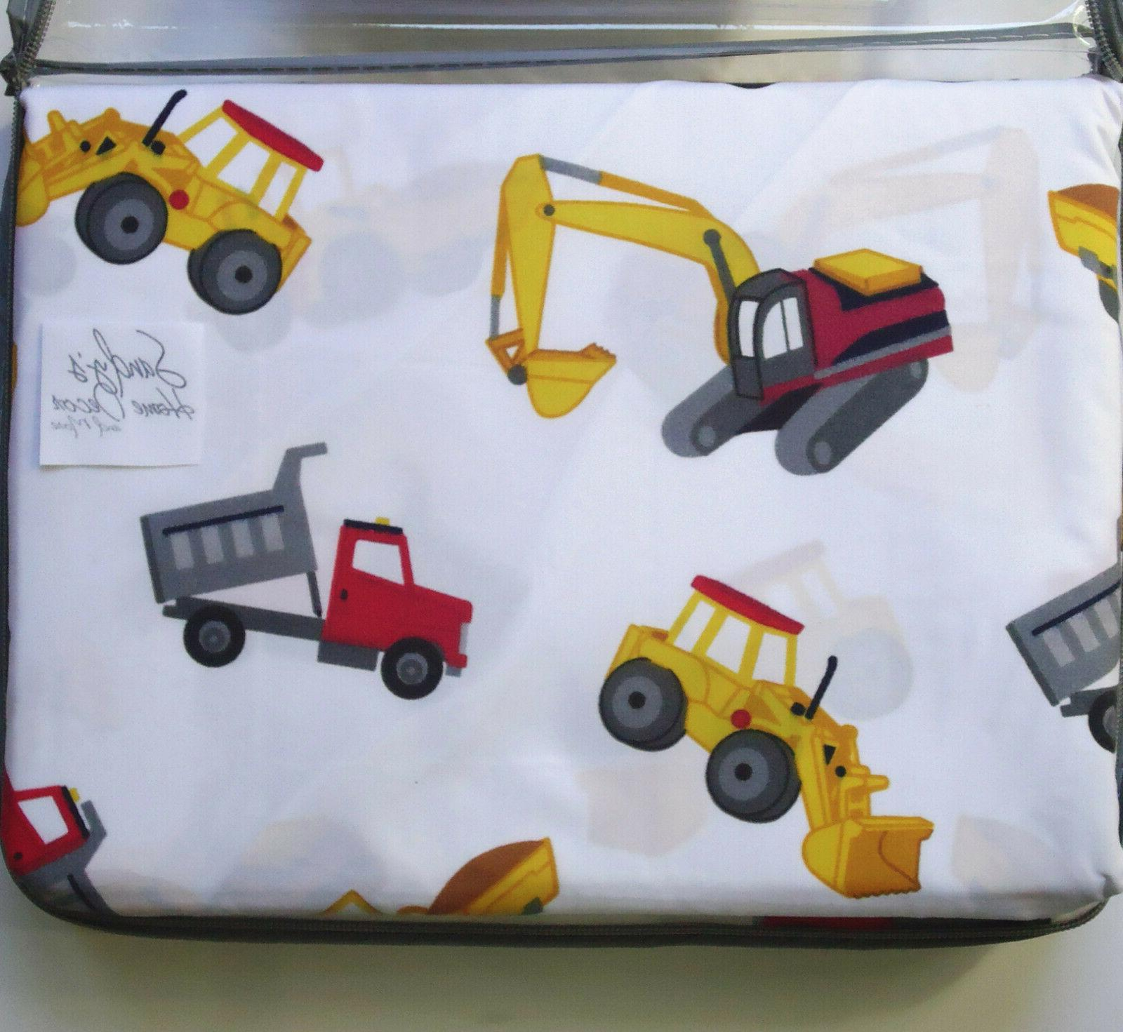 TRUCK 3pc TWIN SHEET Red Cotton