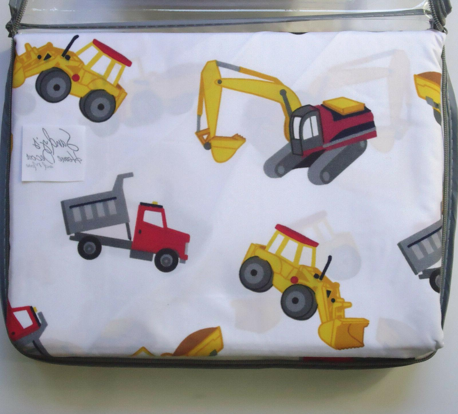 Boy Zone TRUCK 3pc BED SHEET Kids Red Cotton