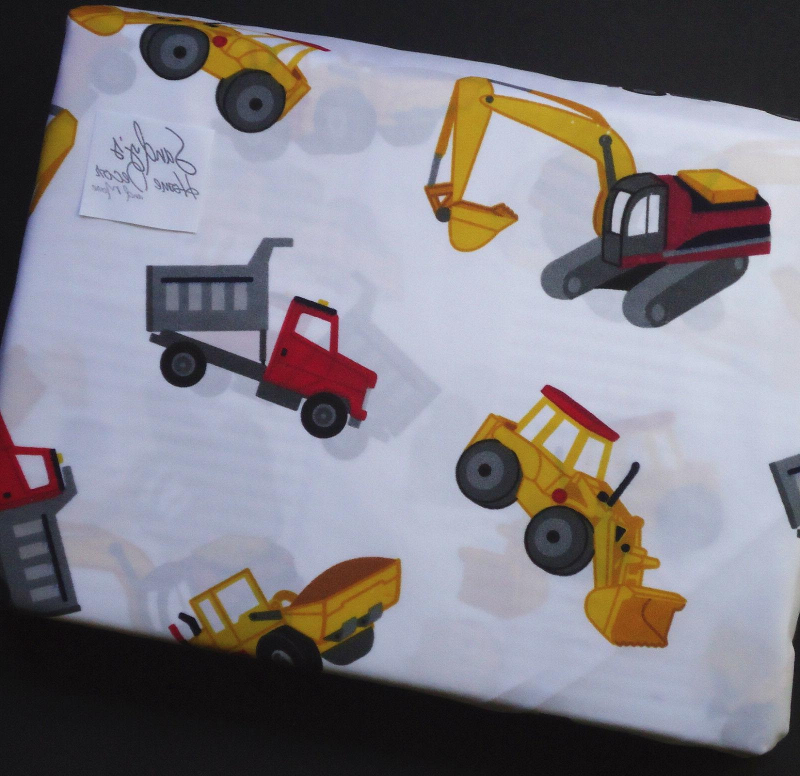 Boy TRACTOR DUMP TRUCK BED SHEET Kids Red