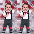 Unique Baby Boys Valentine's Day Outfit Heart Romper Pants B