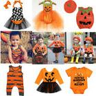 US Halloween Pumpkin Clothes Newborn Kid Baby Girl Boy Rompe