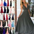Women Long Lace Evening Formal Cocktail Party Ball Gown Brid